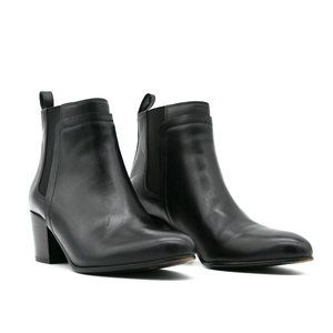 VINCE Hallie Leather Chelsea Ankle Boot Black